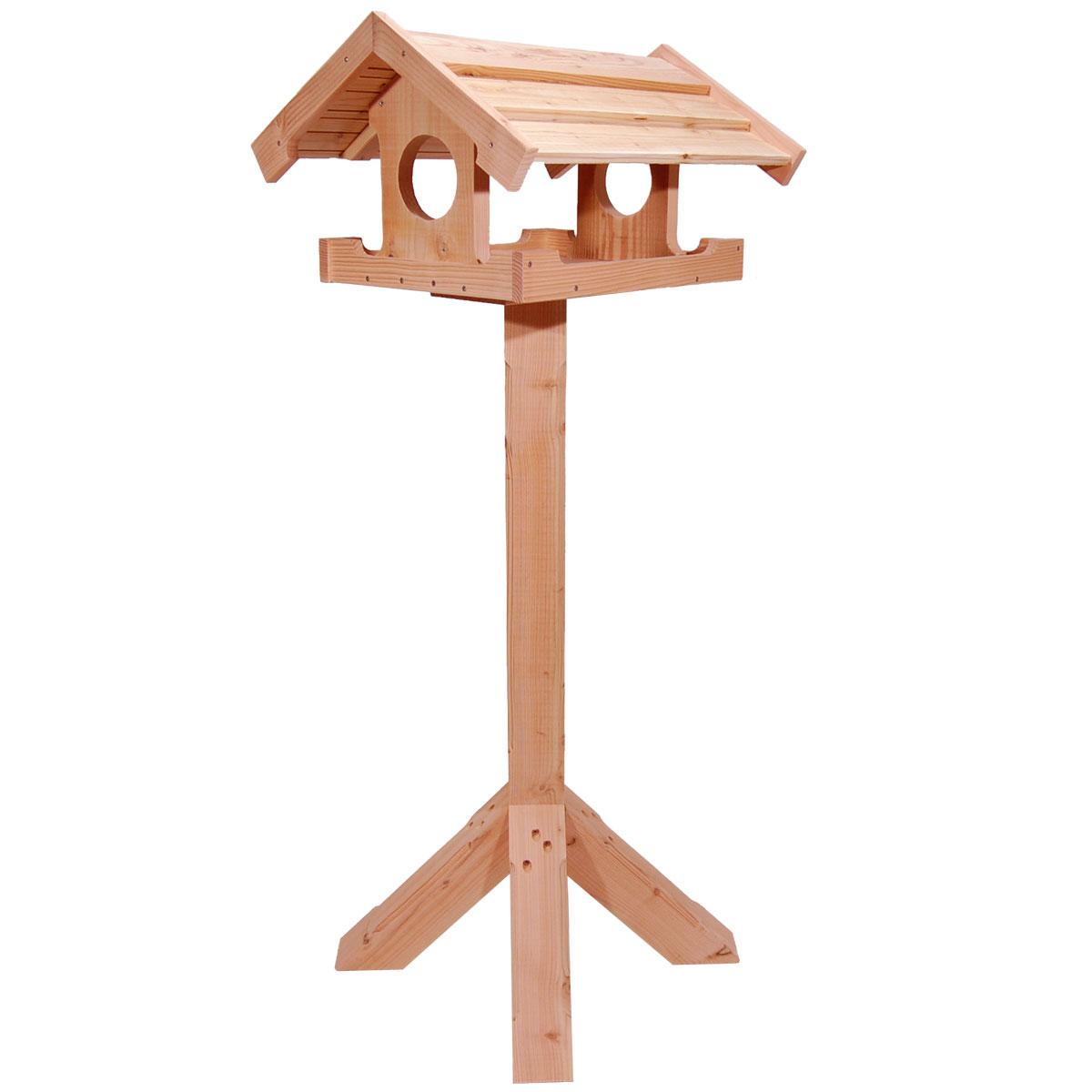 Fuglefoderhuse fremstillet af certificeret dansk træ